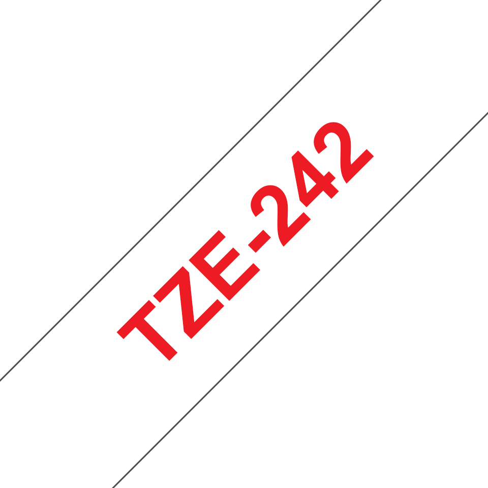 Cassette à ruban pour étiqueteuse TZe-242 Brother originale – Rouge sur blanc, 18mm de large 3