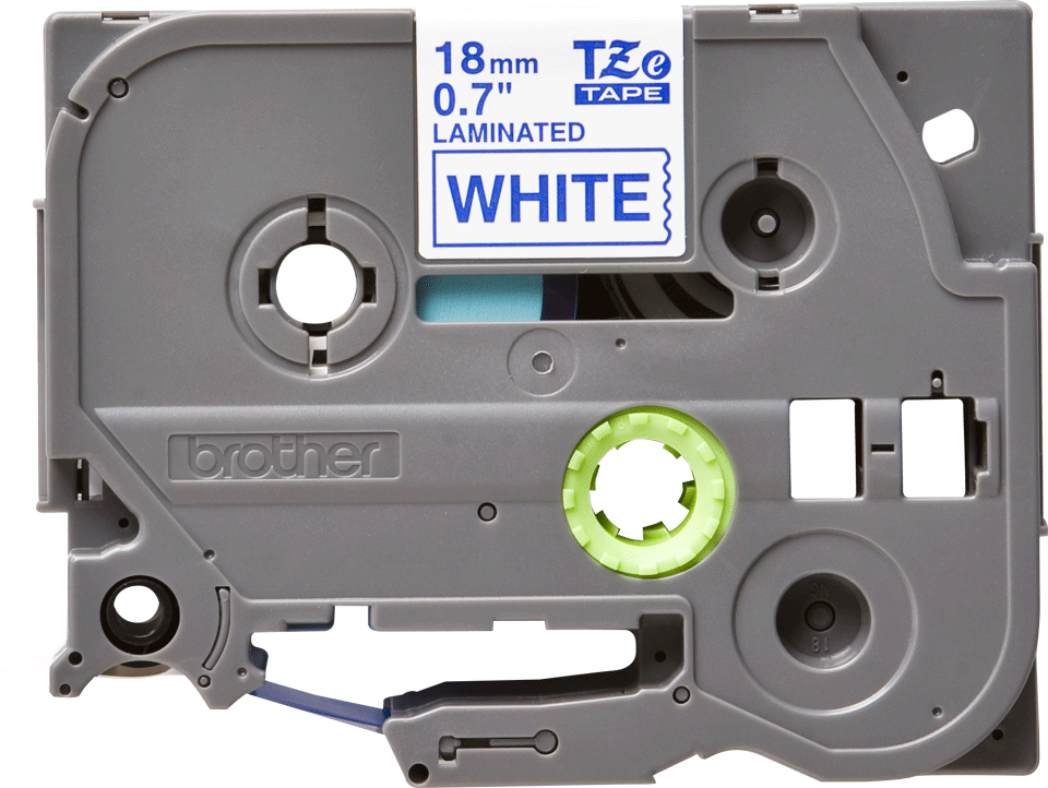 Original TZe-243 Schriftbandkassette von Brother – Blau auf Weiß, 18mm breit