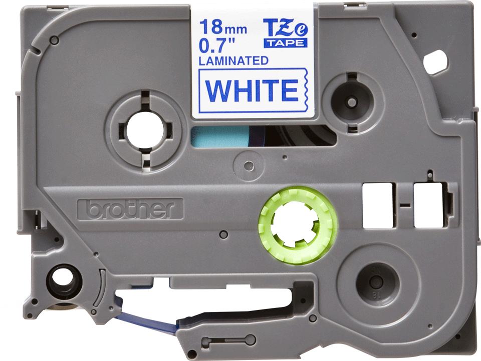 Cassette à ruban pour étiqueteuse TZe-243 Brother originale – Bleu sur blanc, 18mm de large