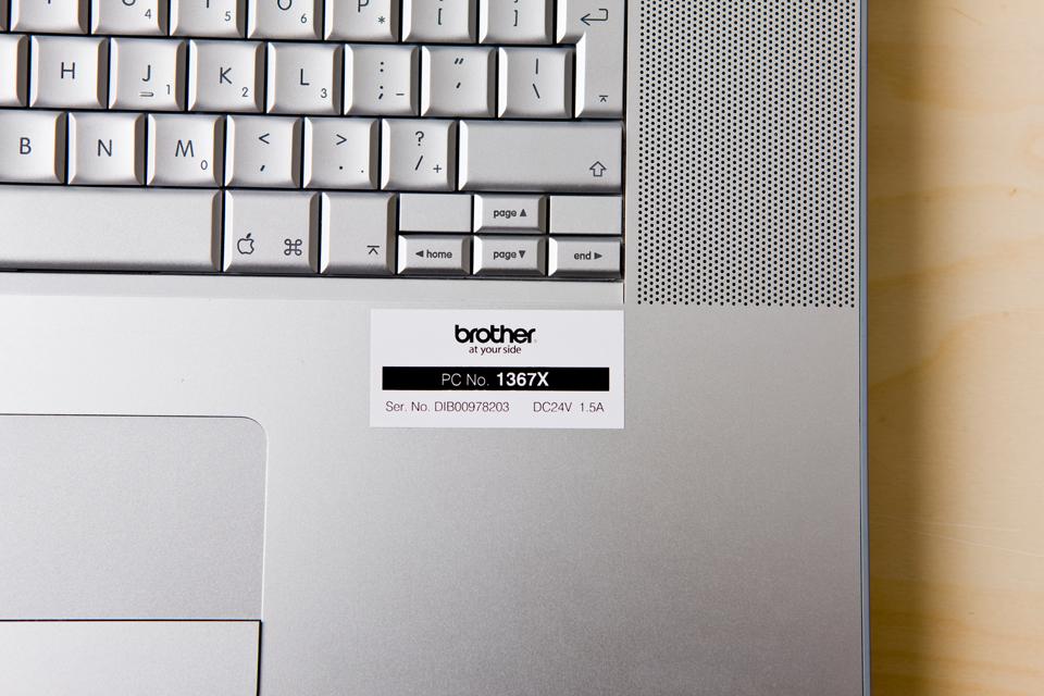 Ruban pour étiqueteuse TZe-251 Brother original – Noir sur blanc, 24mm de large 4