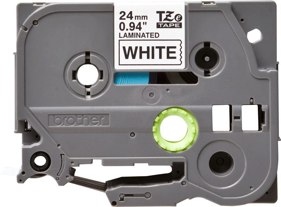 Original TZe-251 Schriftbandkassette von Brother – Schwarz auf Weiß, 24mm breit