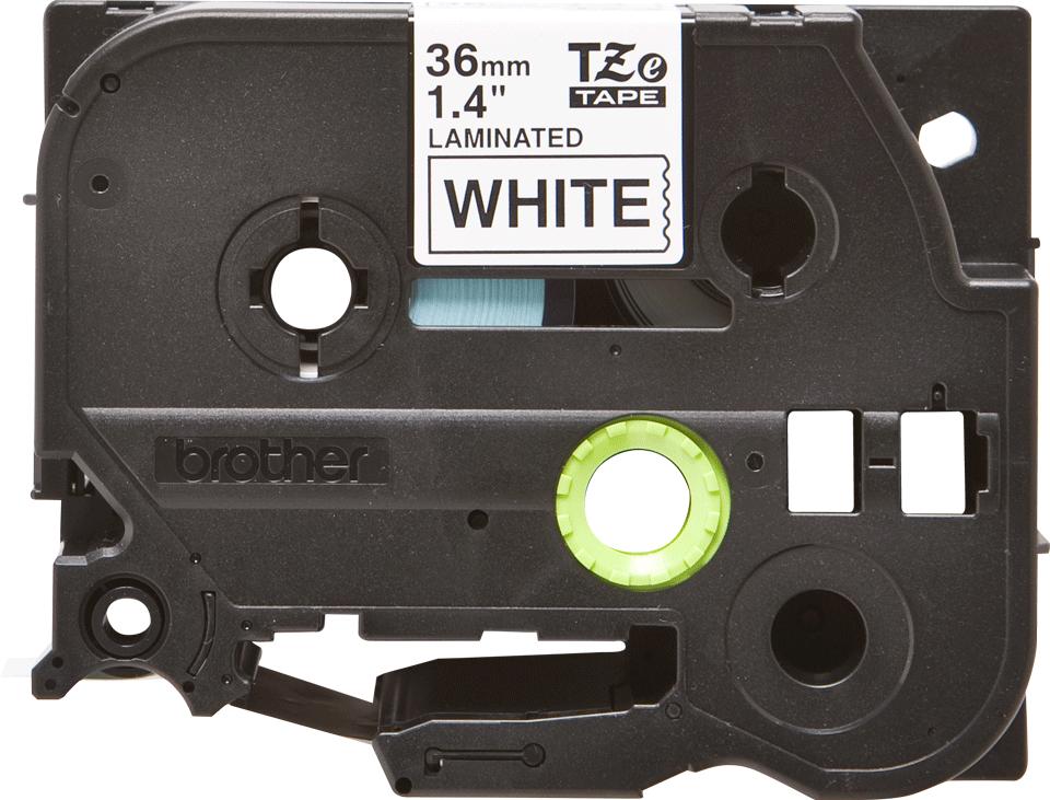 Original TZe-261 Schriftbandkassette von Brother – Schwarz auf Weiß, 36mm breit