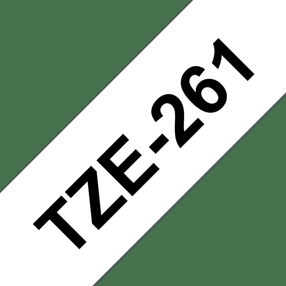 Cassette à ruban pour étiqueteuse TZe-261 Brother originale – Noir sur blanc, 36mm de large 3
