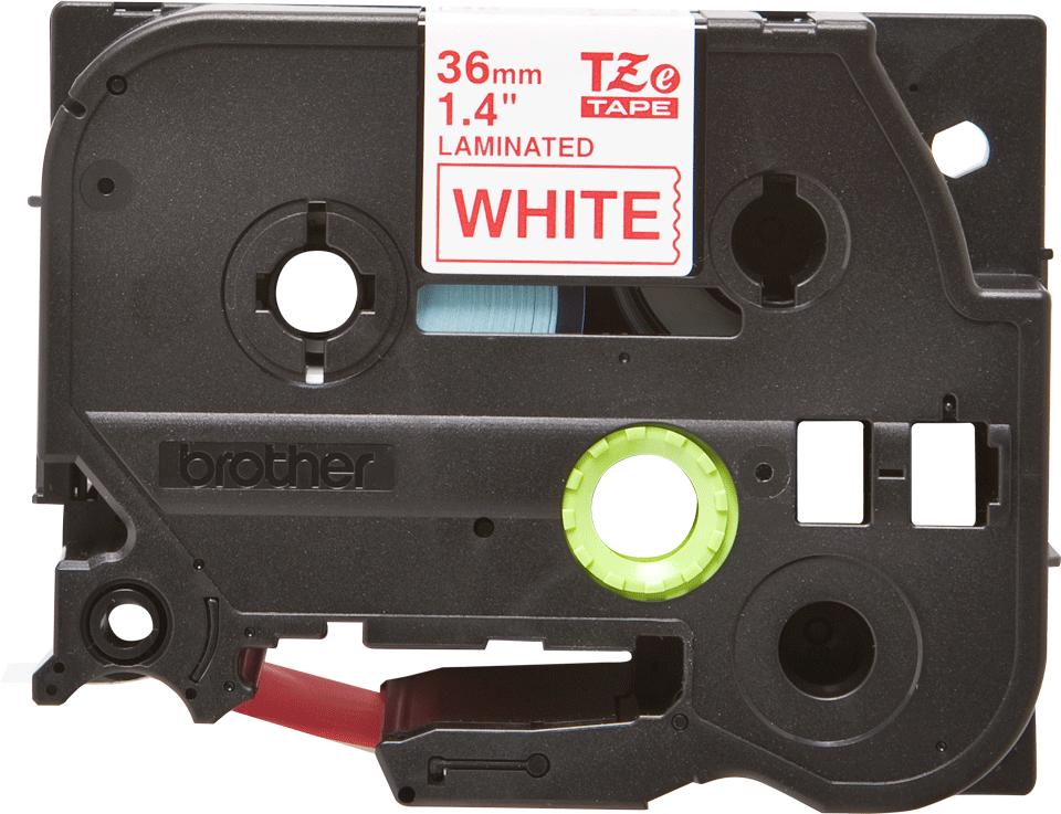 Cassette à ruban pour étiqueteuse TZe-262 Brother originale – Rouge sur blanc, 36mm de large