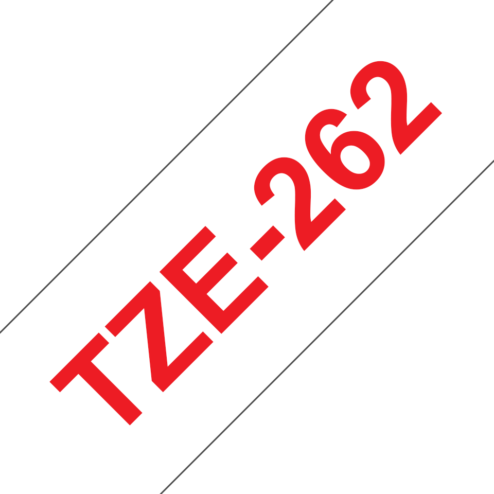 Cassette à ruban pour étiqueteuse TZe-262 Brother originale – Rouge sur blanc, 36mm de large 3