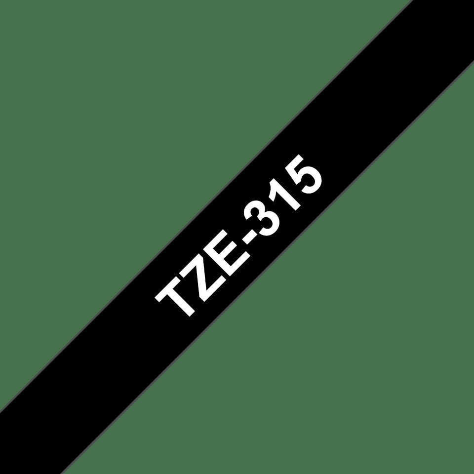 Cassette à ruban pour étiqueteuse TZe-315 Brother originale – Blanc sur noir, 6mm de large 3