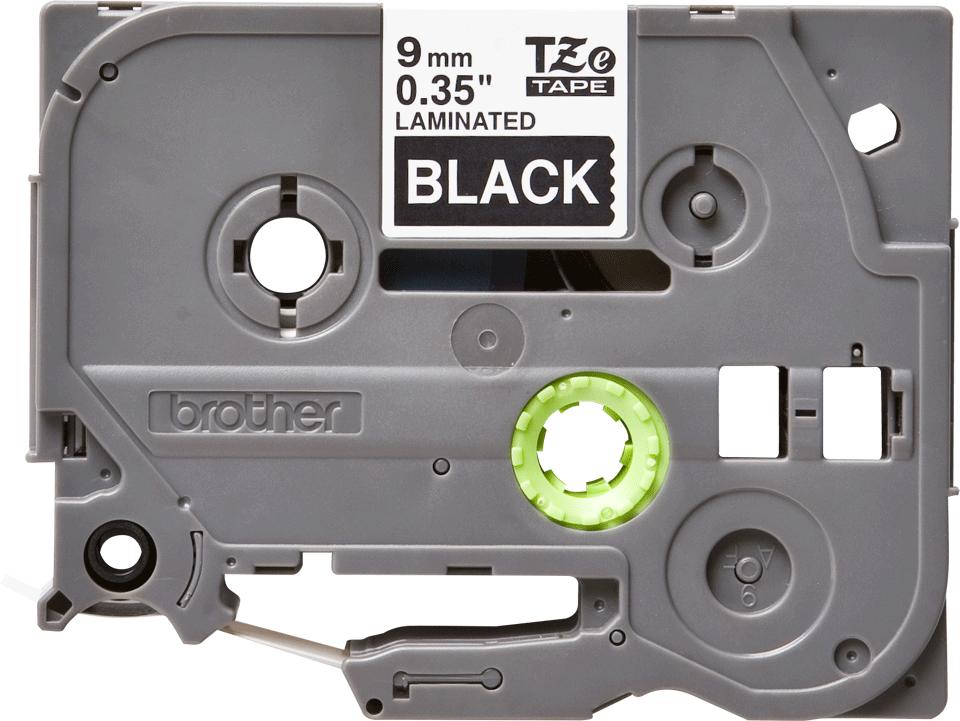 Original TZe-325 Schriftbandkassette von Brother – Weiß auf Schwarz, 9mm breit