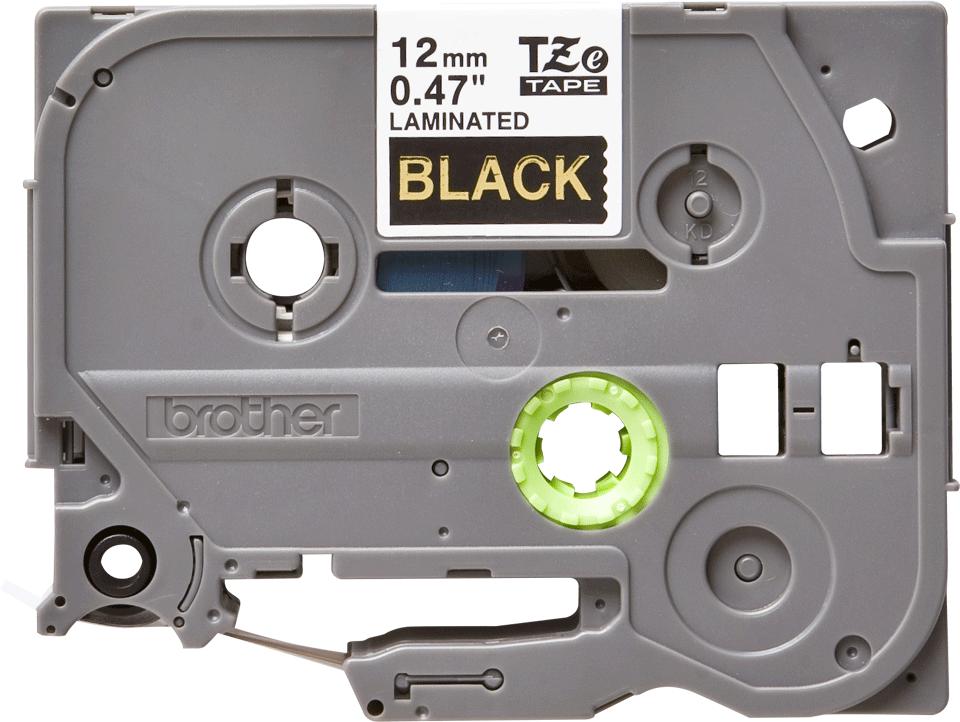 Original TZe-334 Schriftbandkassette von Brother – Gold auf Schwarz, 12mm breit