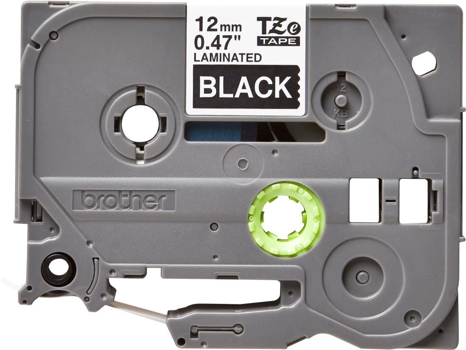 Original TZe-335 Schriftbandkassette von Brother – Weiß auf Schwarz, 12mm breit