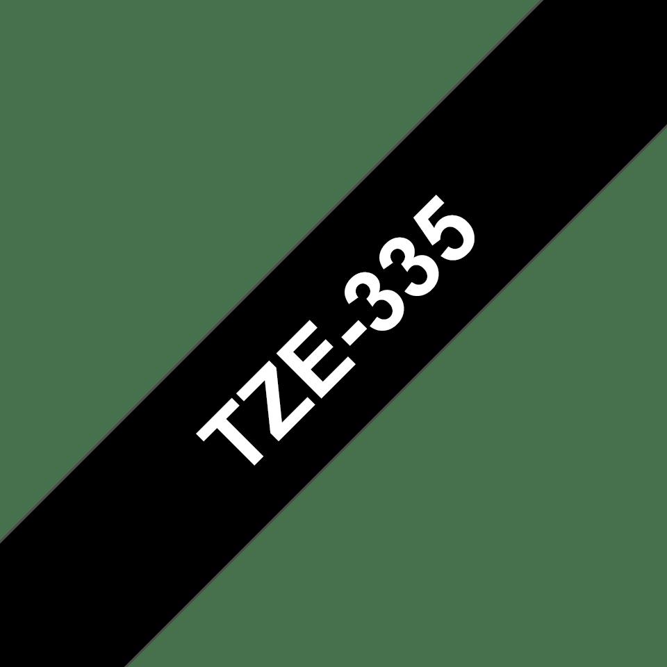 Original TZe-335 Schriftbandkassette von Brother – Weiß auf Schwarz, 12mm breit 3