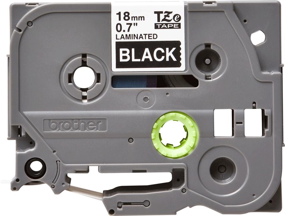 Original TZe-345 Schriftbandkassette von Brother – Weiß auf Schwarz, 18mm breit