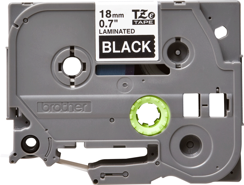Cassette à ruban pour étiqueteuse TZe-345 Brother originale – Blanc sur noir, 18mm de large 2