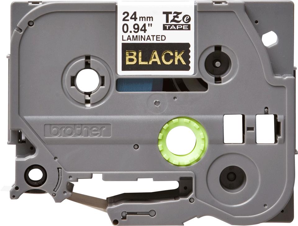 Original TZe-354 Schriftbandkassette von Brother – Gold auf Schwarz, 24mm breit