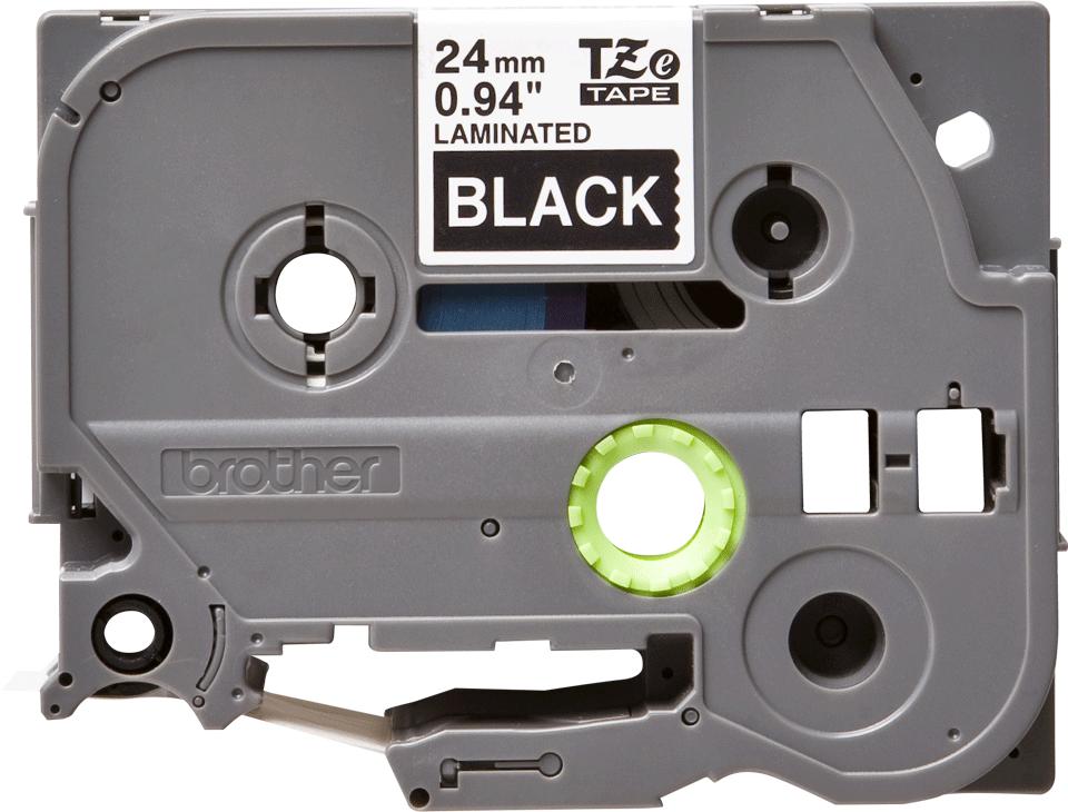 Original TZe-355 Schriftbandkassette von Brother – Weiß auf Schwarz, 24mm breit