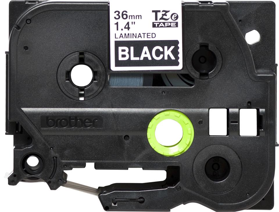 Original TZe-365 Schriftbandkassette von Brother – Weiß auf Schwarz, 36mm breit