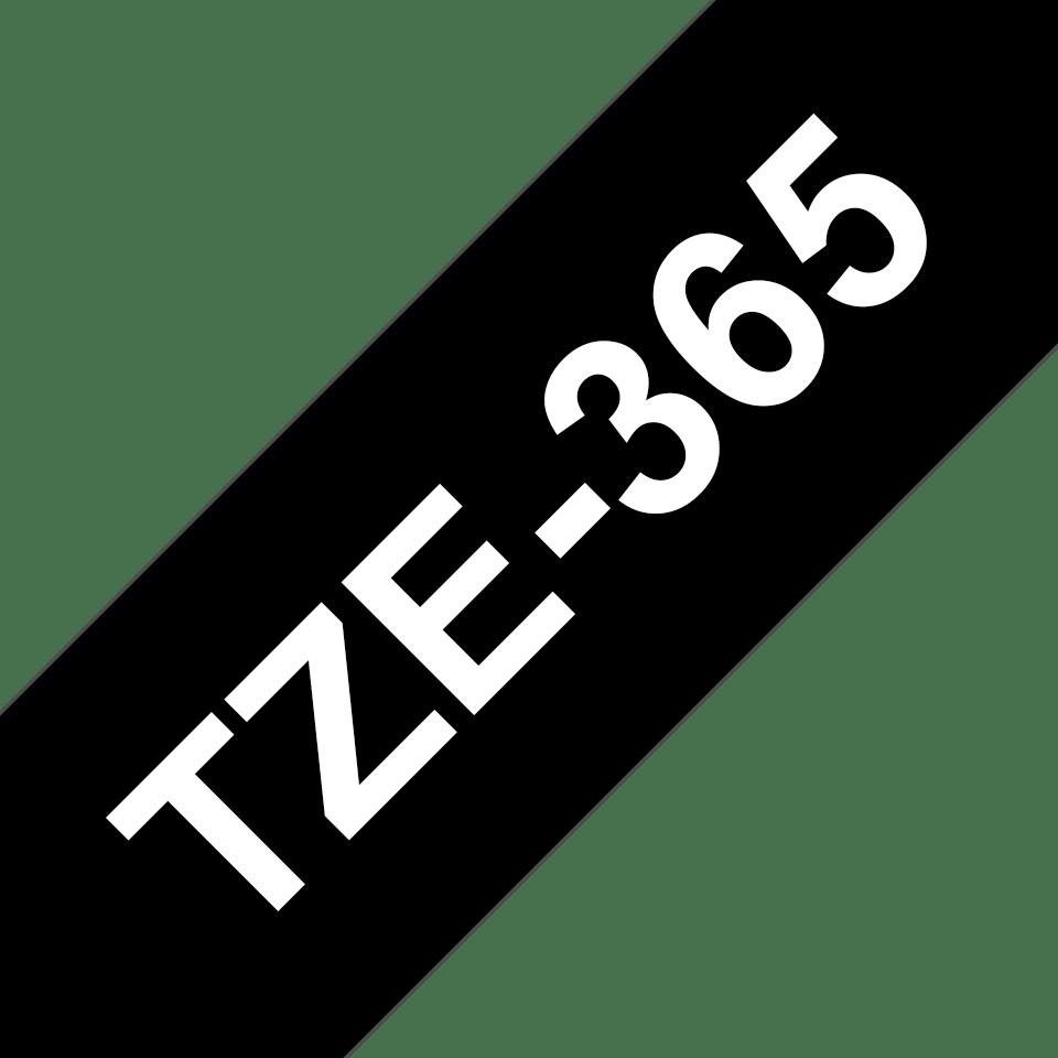 Cassette à ruban pour étiqueteuse TZe-365 Brother originale – Blanc sur noir, 36mm de large