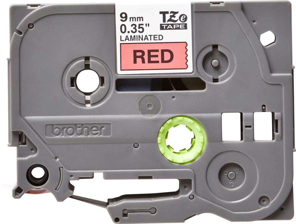 Original TZe-421 Schriftbandkassette von Brother – Schwarz auf Rot, 9mm breit