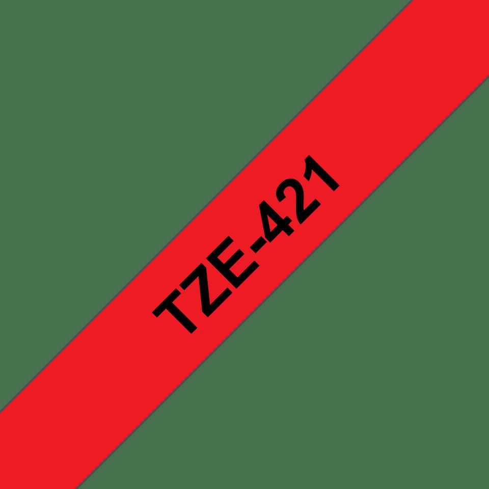 Cassette à ruban pour étiqueteuse TZe-421 Brother originale – Noir sur rouge, 9mm de large 3