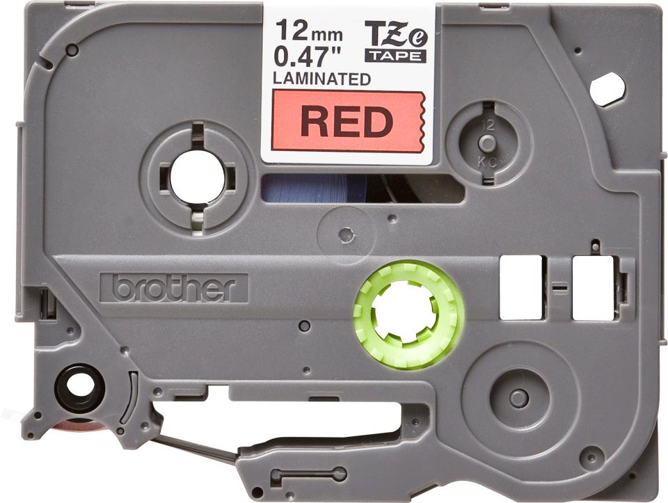 Original TZe-431 Schriftbandkassette von Brother – Schwarz auf Rot, 12mm breit