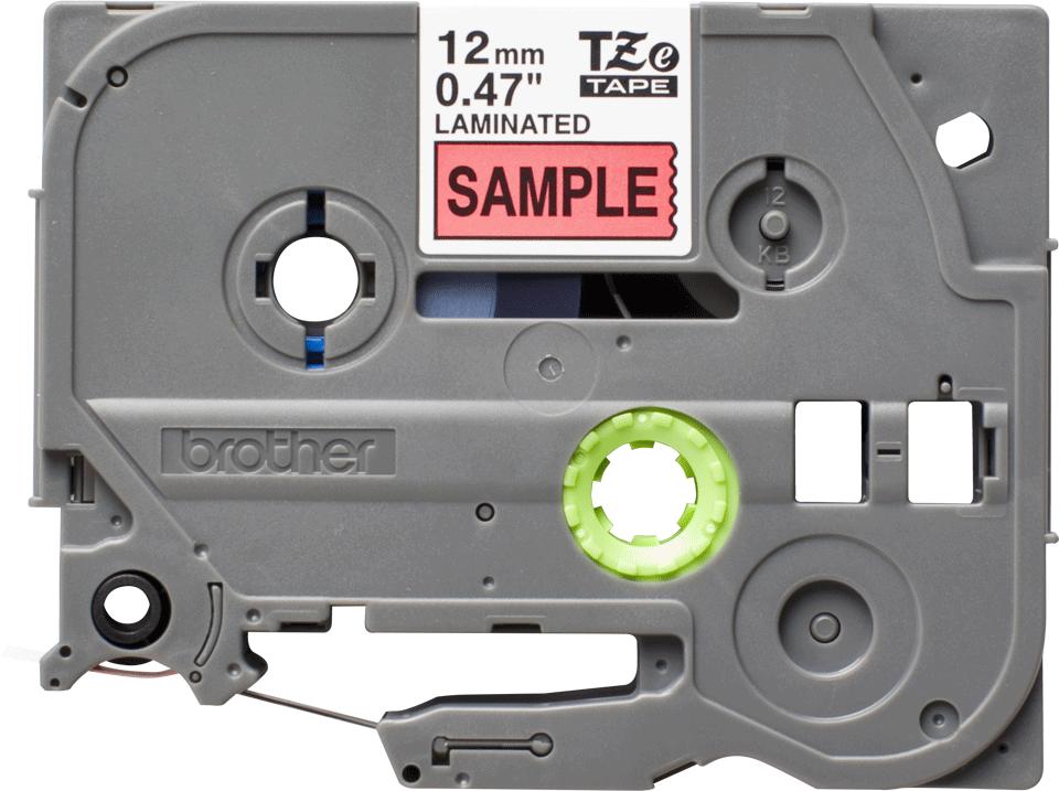 Original TZe-431S Schriftbandkassette von Brother – Schwarz auf Rot, 12mm breit