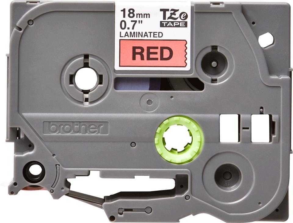 Original TZe-441 Schriftbandkassette von Brother – Schwarz auf Rot, 18mm breit