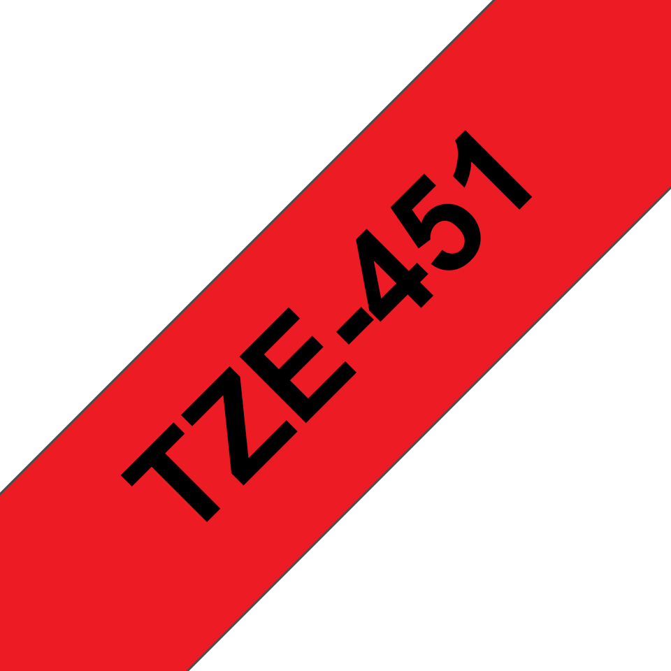 Cassette à ruban pour étiqueteuse TZe-451 Brother originale – Noir sur rouge, 24mm de large 3