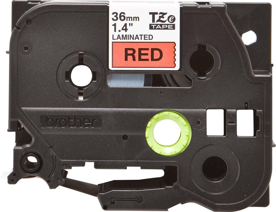 Original TZe-461 Schriftbandkassette von Brother – Schwarz auf Rot, 36mm breit