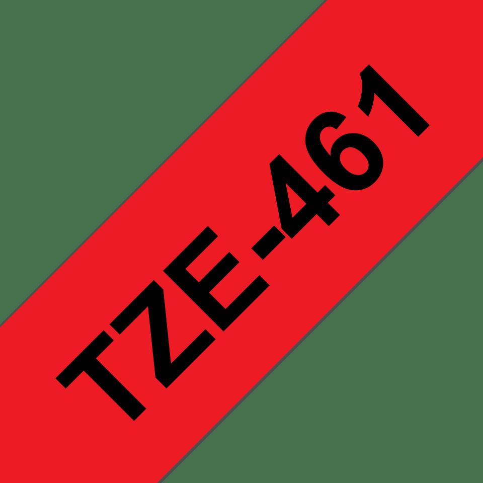 Original TZe-461 Schriftbandkassette von Brother – Schwarz auf Rot, 36mm breit 3