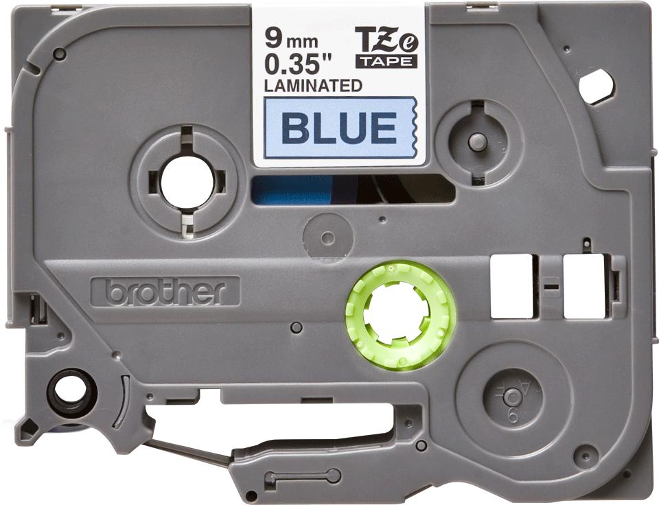 Original TZe-521 Schriftbandkassette von Brother – Schwarz auf Blau, 9mm breit