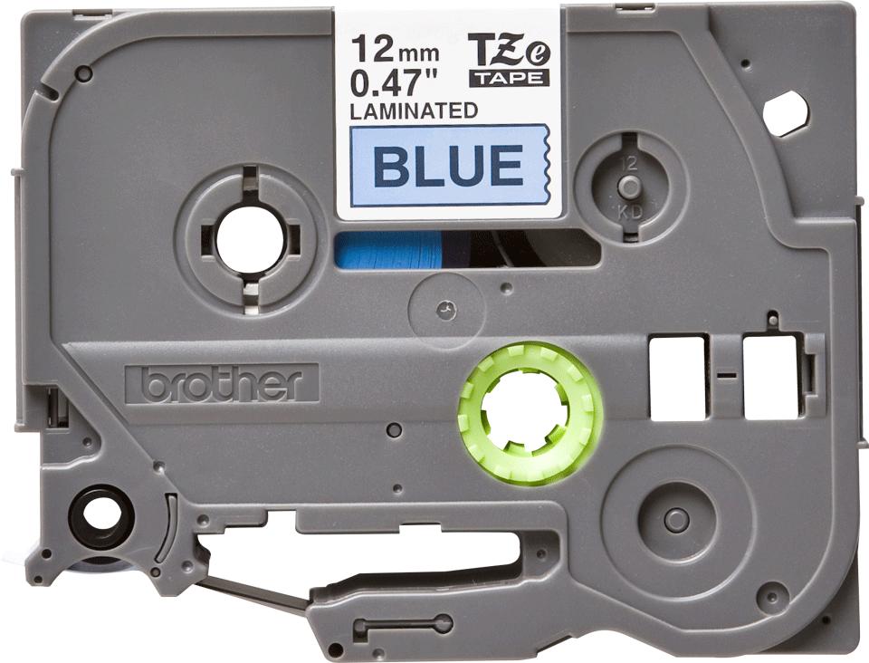Original TZe-531 Schriftbandkassette von Brother – Schwarz auf Blau, 12mm breit