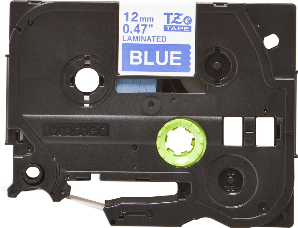 Original TZe-535 Schriftbandkassette von Brother – Weiß auf Blau, 12mm breit