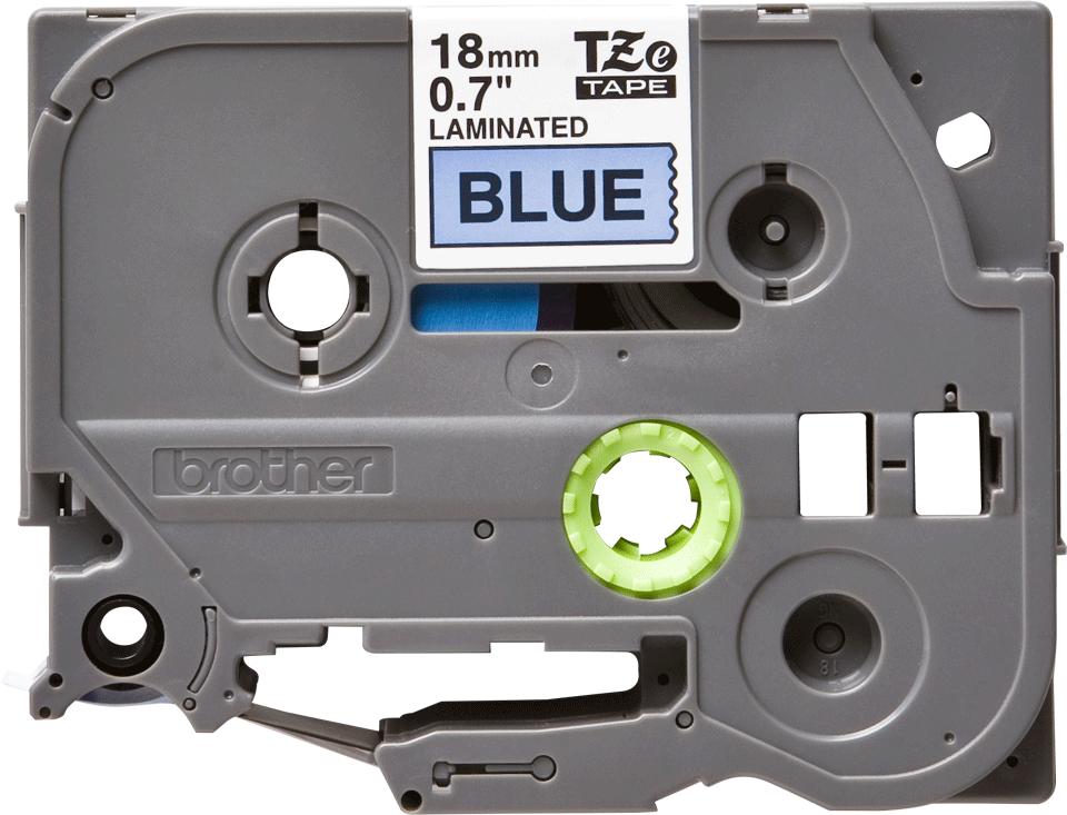Original TZe-541 Schriftbandkassette von Brother – Schwarz auf Blau, 18mm breit