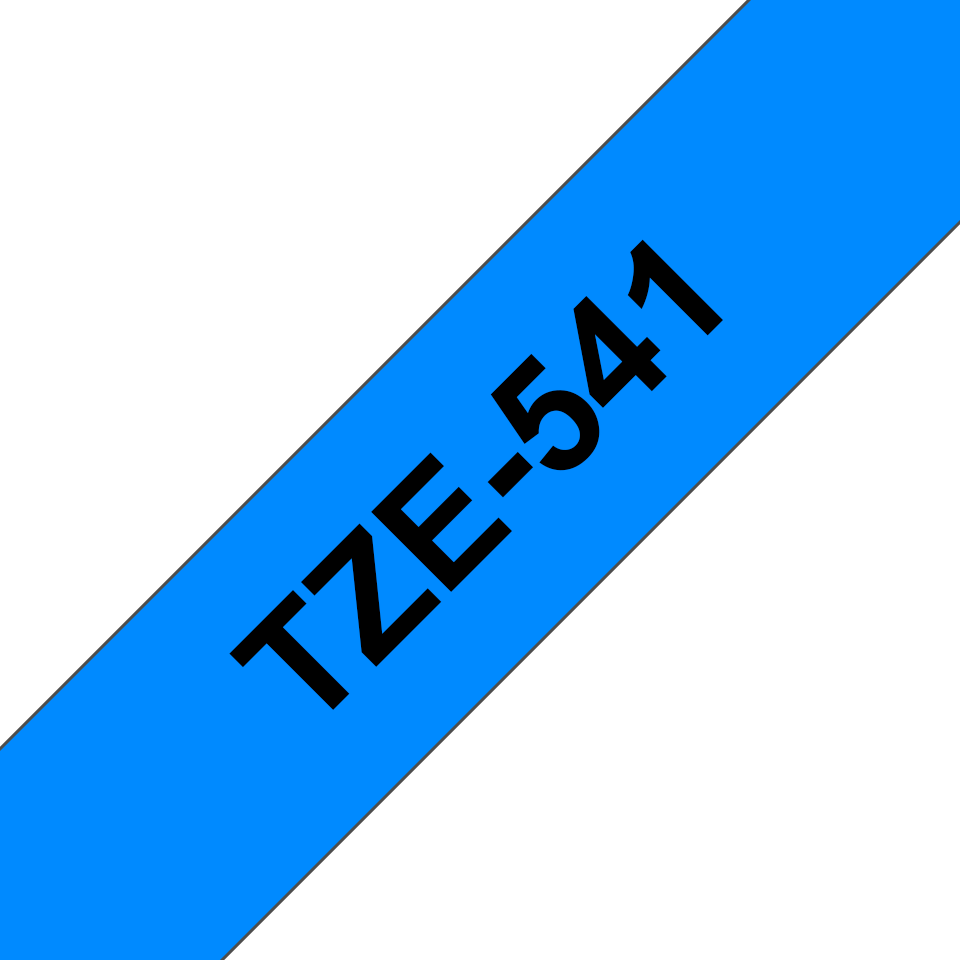 Original TZe-541 Schriftbandkassette von Brother – Schwarz auf Blau, 18mm breit 3
