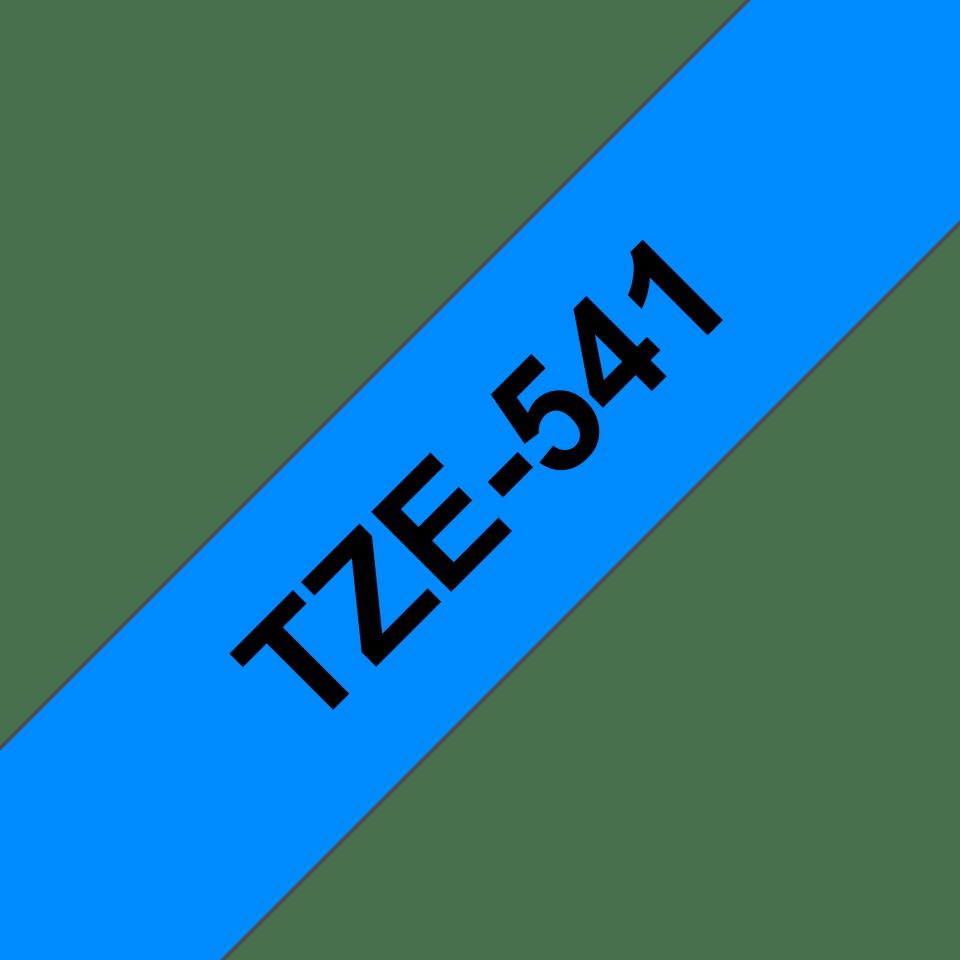 Cassette à ruban pour étiqueteuse TZe-541 Brother originale – Noir sur bleu, 18mm de large 3