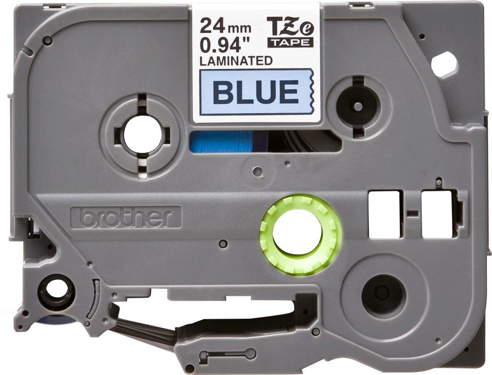 Original TZe-551 Schriftbandkassette von Brother – Schwarz auf Blau, 24mm breit