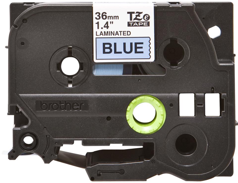Original TZe-561 Schriftbandkassette von Brother – Schwarz auf Blau, 36mm breit