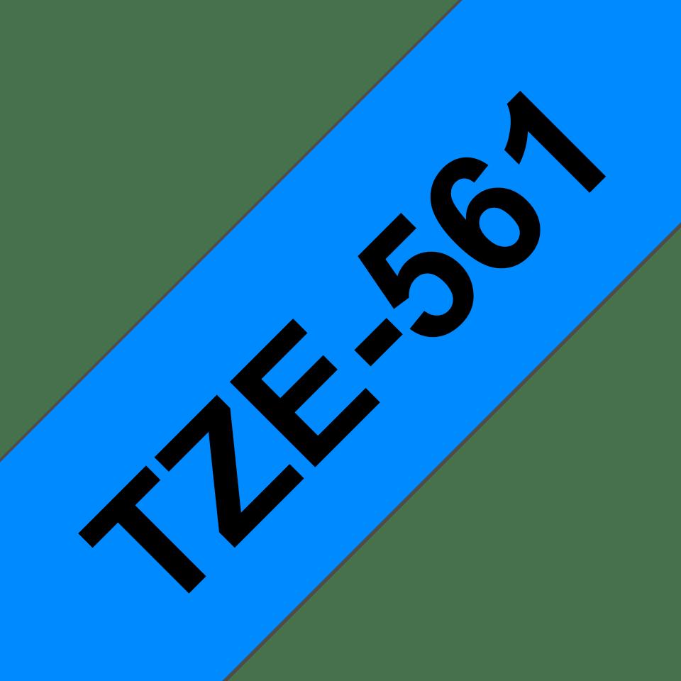 Original TZe-561 Schriftbandkassette von Brother – Schwarz auf Blau, 36mm breit 3
