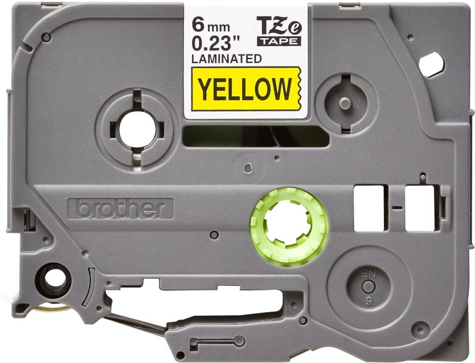 Cassette à ruban pour étiqueteuse TZe-611 Brother originale – Noir sur jaune, 6mm de large 2