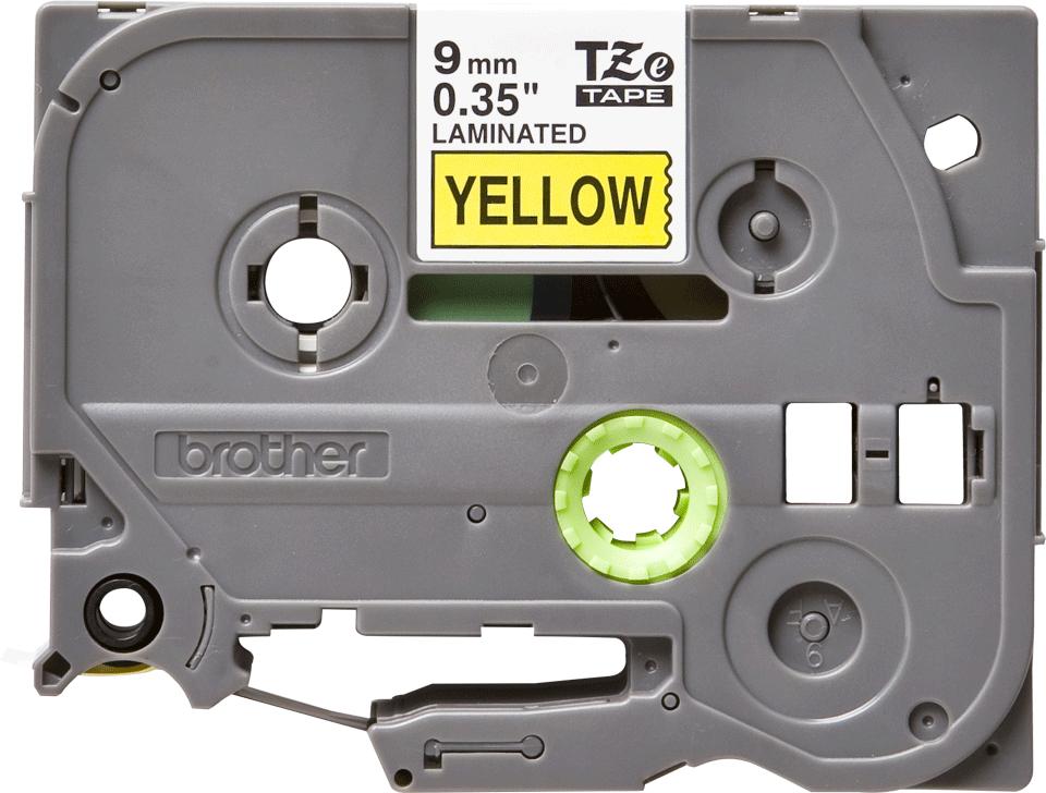 Original TZe-621 Schriftbandkassette von Brother – Schwarz auf Gelb, 9mm breit