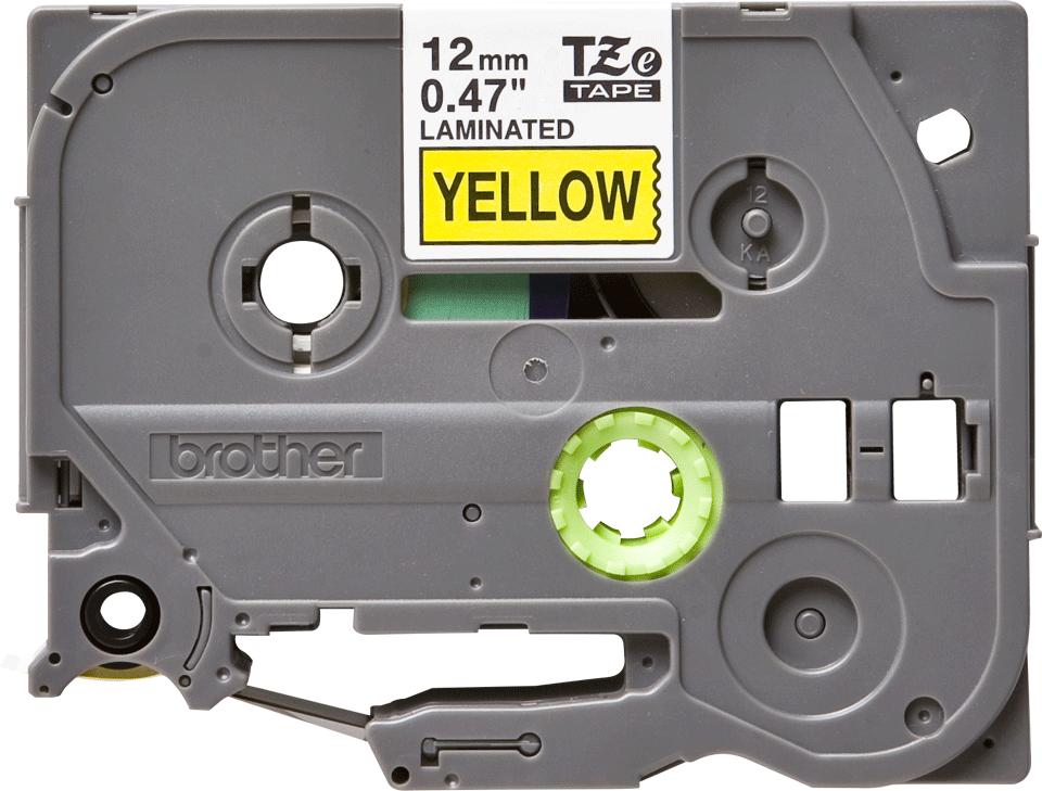 Ruban pour étiqueteuse TZe-631 Brother original – Noir sur jaune, 12mm de large