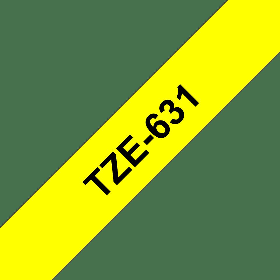 Original TZe-631 Schriftbandkassette von Brother – Schwarz auf Gelb, 12mm breit 3
