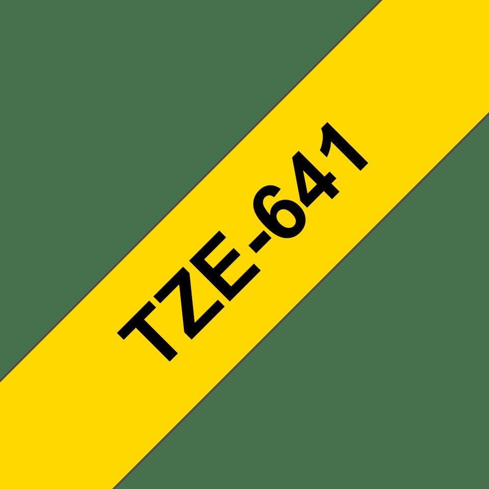 Original TZe-641 Schriftbandkassette von Brother – Schwarz auf Gelb, 18mm breit