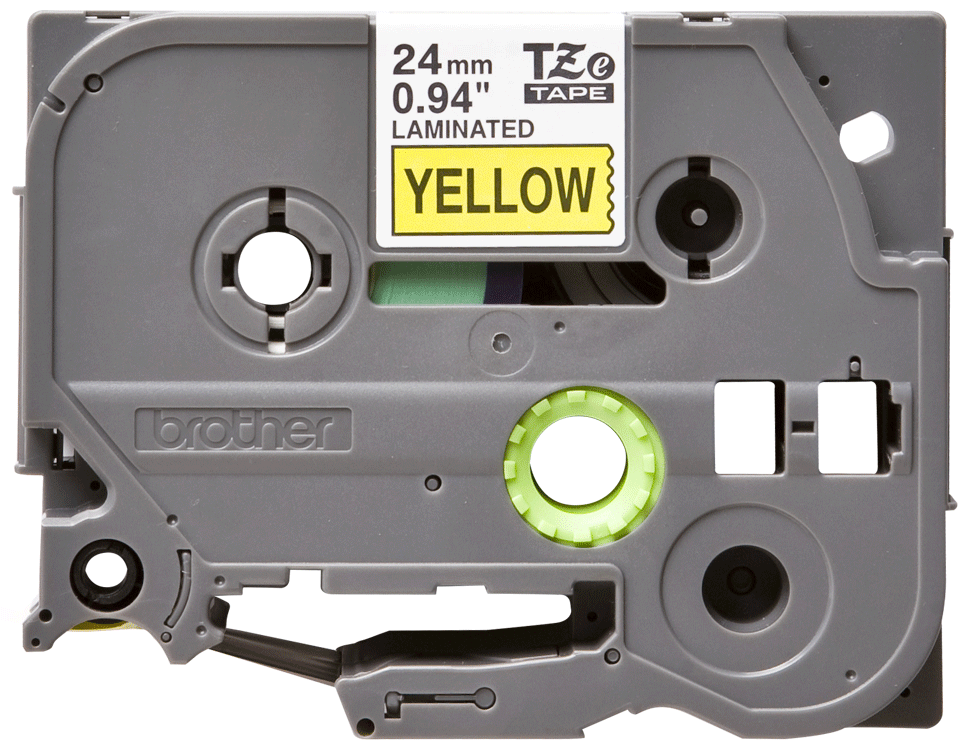 Original TZe-651 Schriftbandkassette von Brother – Schwarz auf Gelb, 24mm breit
