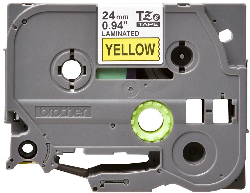 Cassette à ruban pour étiqueteuse TZe-651 Brother originale – Noir sur jaune, 24mm de large