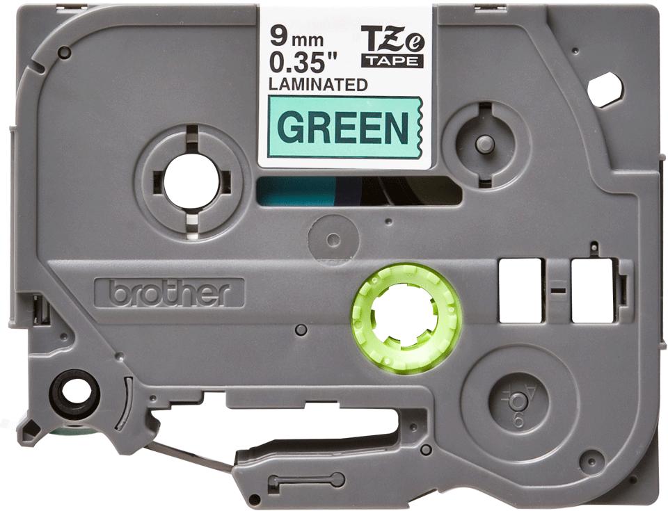 Original TZe-721 Schriftbandkassette von Brother – Schwarz auf Grün, 9mm breit