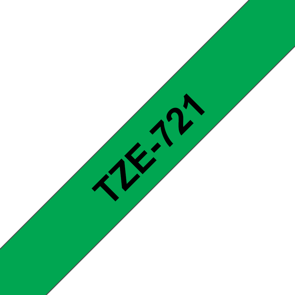 Cassette à ruban pour étiqueteuse TZe-721 Brother originale – Noir sur vert, 9mm de large 3