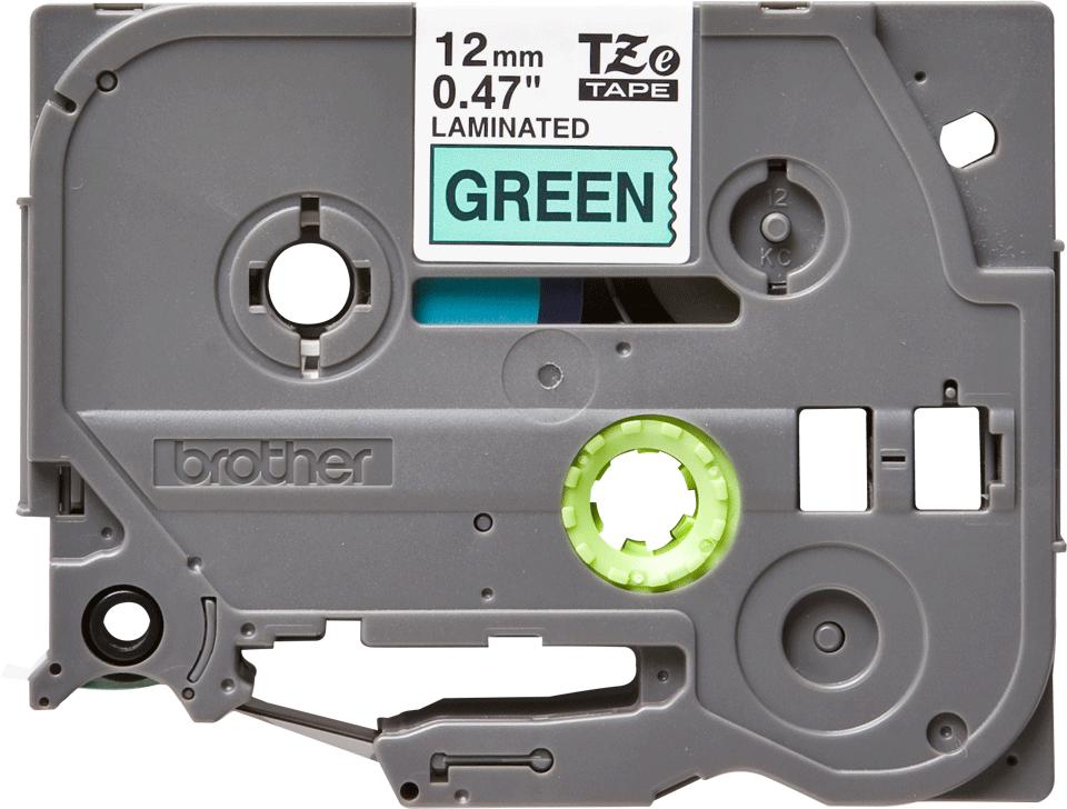 Original TZe-731 Schriftbandkassette von Brother – Schwarz auf Grün, 12mm breit