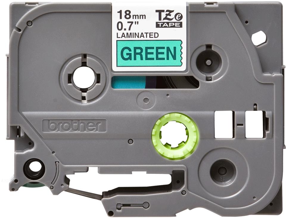Original TZe-741 Schriftbandkassette von Brother – Schwarz auf Grün, 18mm breit