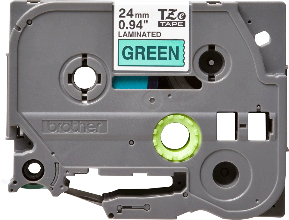 Original TZe-751 Schriftbandkassette von Brother – Schwarz auf Grün, 24mm breit