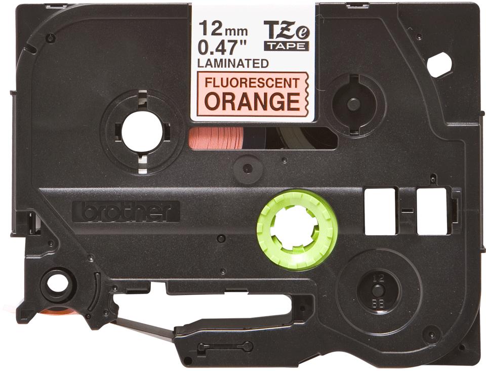 Original TZe-B31 Schriftbandkassette von Brother – Schwarz auf Signalorange, 12mm breit